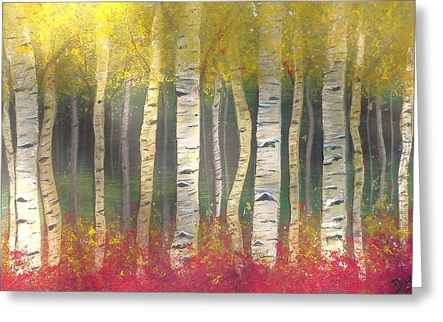 Sunlight On Aspens Greeting Card