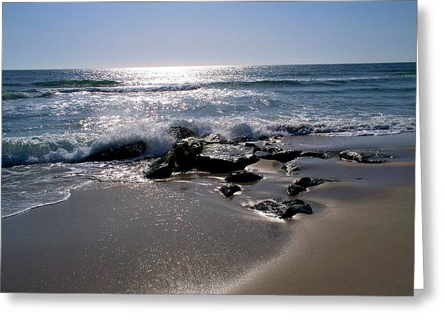 Sunlight On The Atlantic  Greeting Card by Rick Todaro