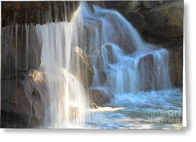 Sunlight On The Falls Greeting Card