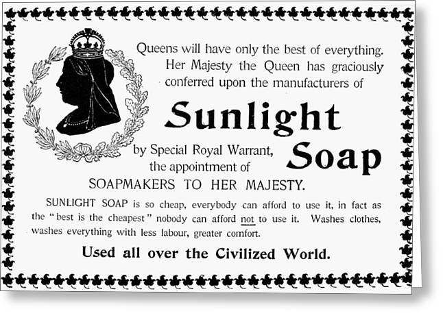 Sunlight Soap Ad, 1896 Greeting Card by Granger