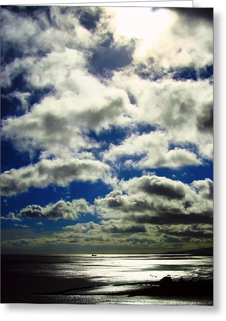 Sunlight Through The Clouds Greeting Card