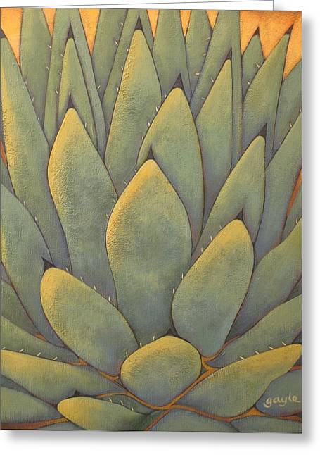 Sunlit Agave Greeting Card
