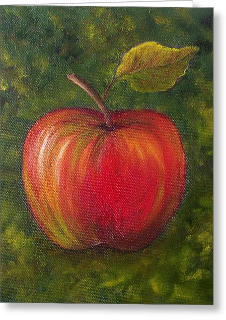 Sunlit Apple Sold Greeting Card