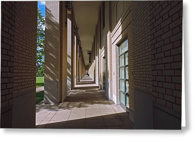 Sunlit Arches Of Carnegie Mellon University Greeting Card by Cityscape Photography