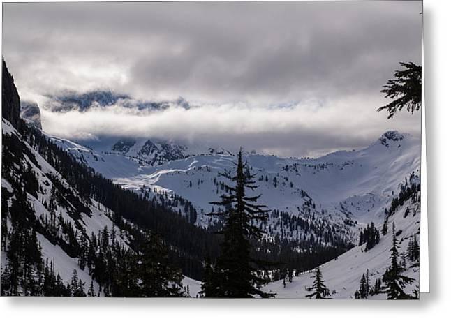 Sunlit Mount Shuksan Greeting Card by Mike Reid