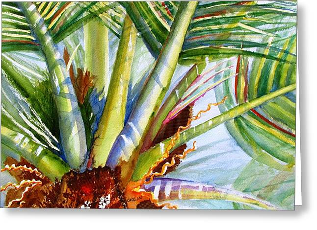 Sunlit Palm Fronds Greeting Card