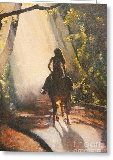 Sunlit Path Greeting Card by Diana Besser