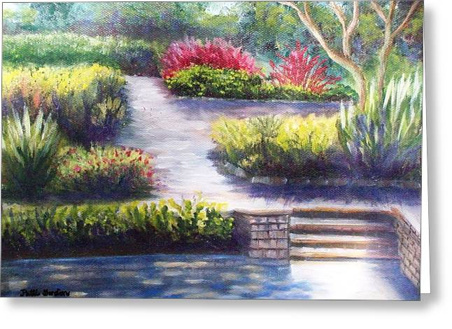 Sunlit Paths Greeting Card by Patti Gordon