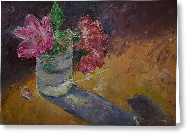 Sunlit Roses Greeting Card by Horacio Prada
