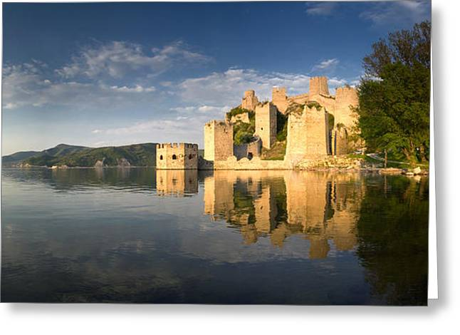Sunny Afternoon On Golubac Fortress Greeting Card by Davorin Mance