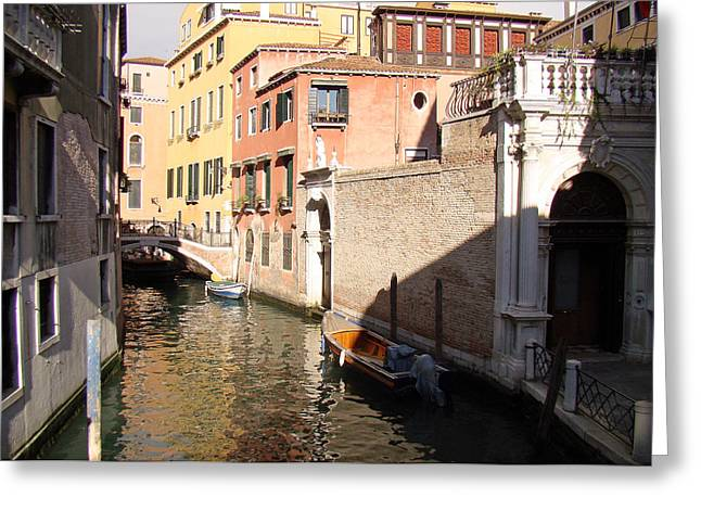 Greeting Card featuring the photograph Venice Sunny Afternoon by Walter Fahmy