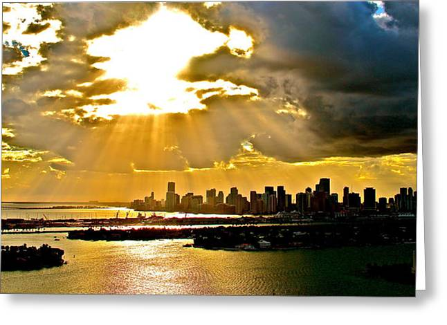 Sunny And Cloudy Afternoon  Greeting Card by Ronald  Bell