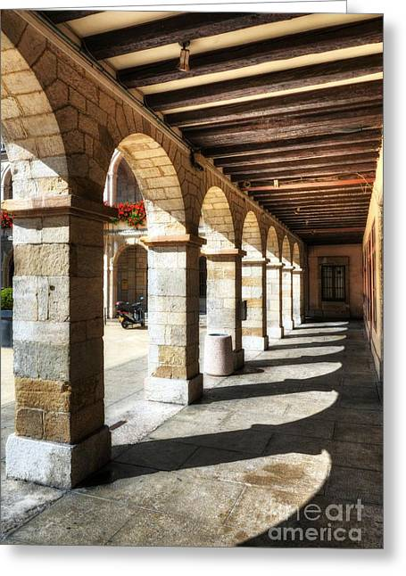 Sunny Arches Of Vienne Greeting Card by Mel Steinhauer