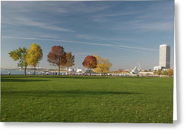Greeting Card featuring the photograph Sunny Autumn Day by Jonah  Anderson