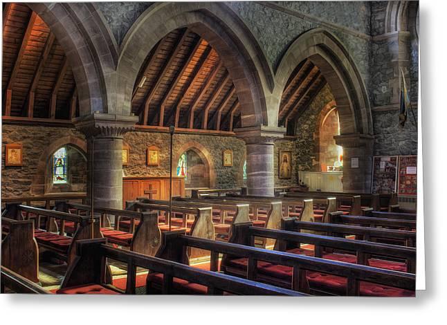 Sunny Church Greeting Card by Ian Mitchell