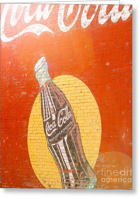 Sunny Coca Cola Greeting Card by Sonja Quintero