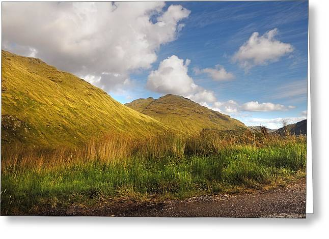 Sunny Day At Rest And Be Thankful. Scotland Greeting Card by Jenny Rainbow