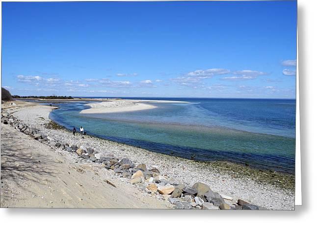Sunny Day Beachside Greeting Card by Lynda Lehmann