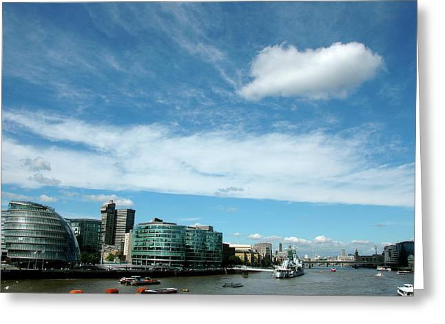 Greeting Card featuring the photograph Sunny Day London by Jonah  Anderson