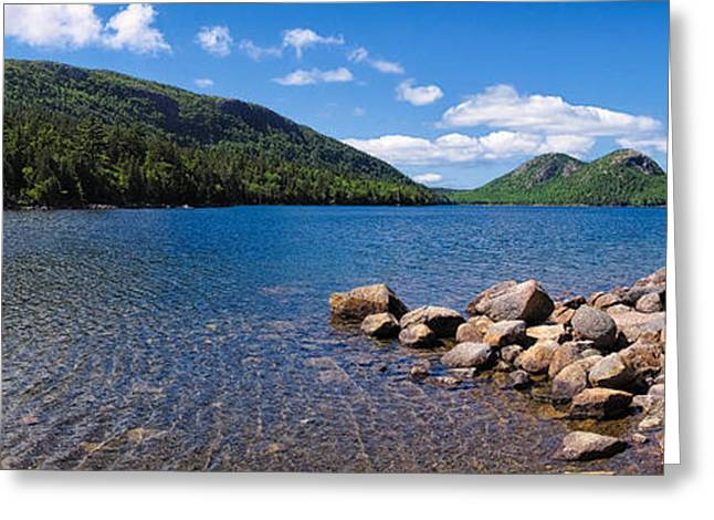Sunny Day On Jordan Pond   Greeting Card by Lars Lentz