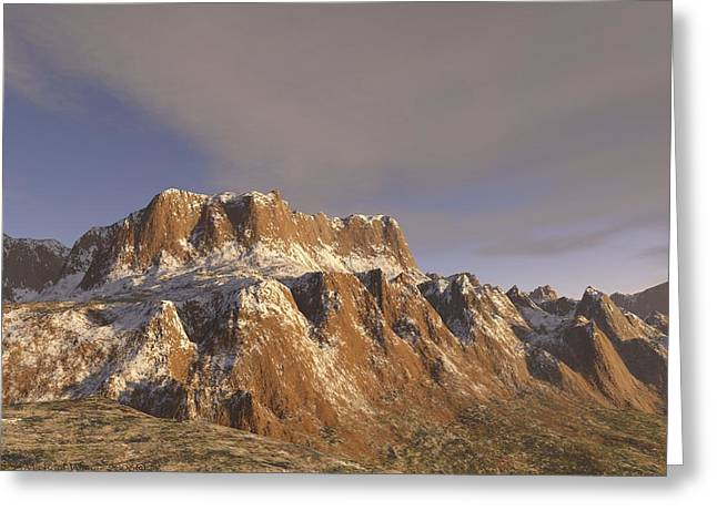 Sunny Day On The Mountains Greeting Card by Michael Wimer