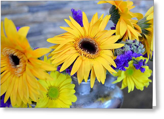 Greeting Card featuring the photograph Sunny Days by Ally  White