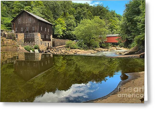 Sunny Days At Mcconnells Mill Greeting Card