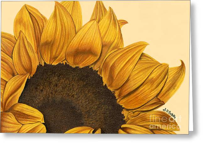 Sunny Flower Greeting Card by Sarah Batalka