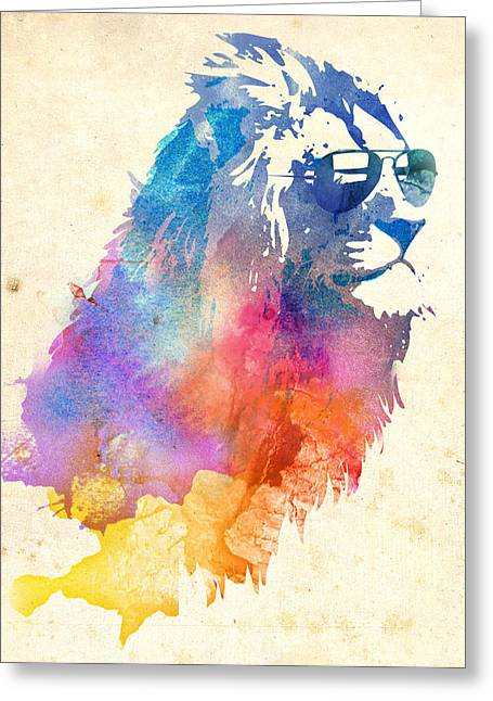 Sunny Leo Greeting Card by Robert Farkas