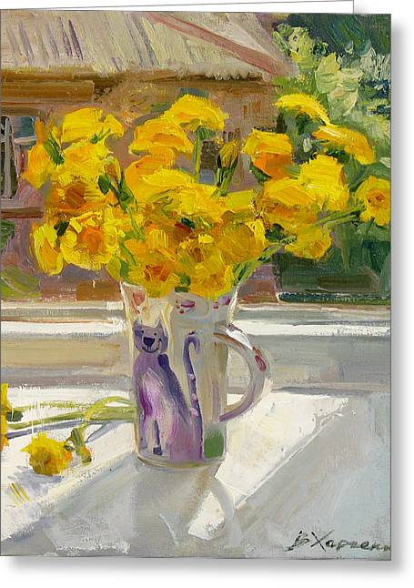 Sunny May Greeting Card by Victoria Kharchenko