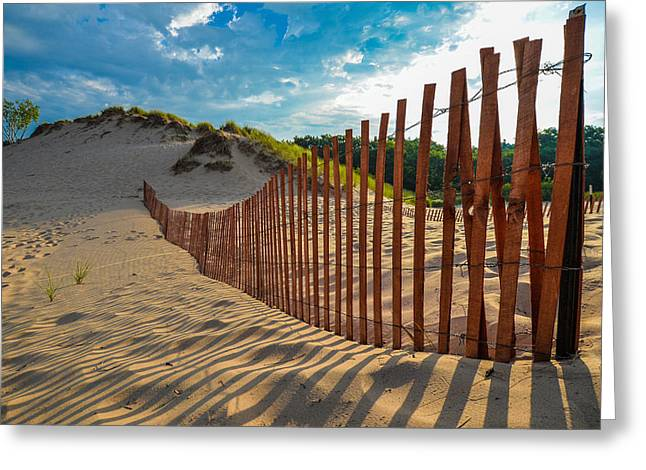 Sunny Morning On The Dunes Greeting Card