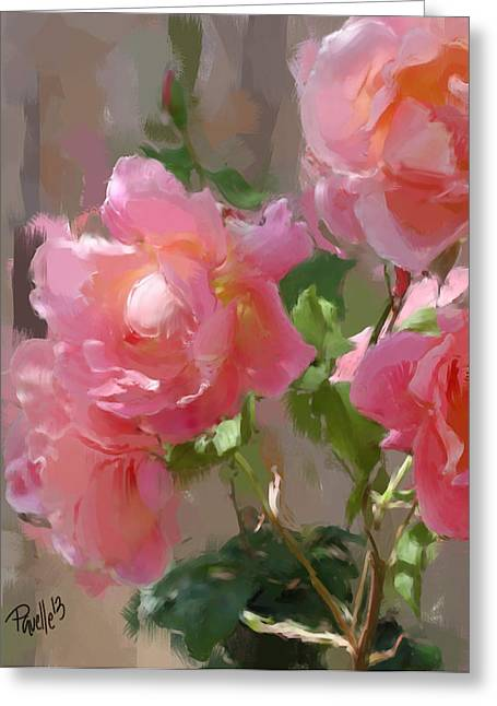 Sunny Roses Greeting Card by Jim Pavelle