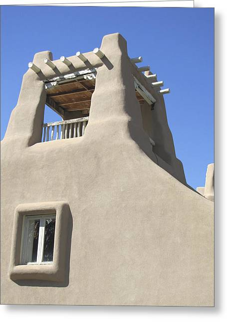 Sunny Southwest Adobe Greeting Card by Ann Powell
