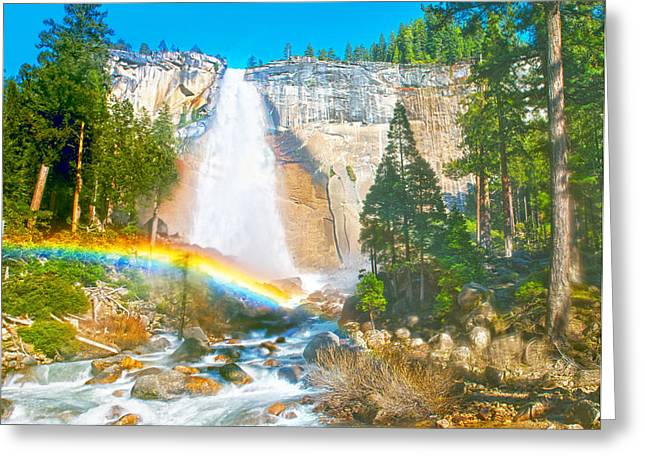 Nevada Fall On A May Afternoon Greeting Card