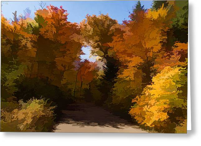 Sunny Warm And Colorful - Autumn Impressions Greeting Card by Georgia Mizuleva