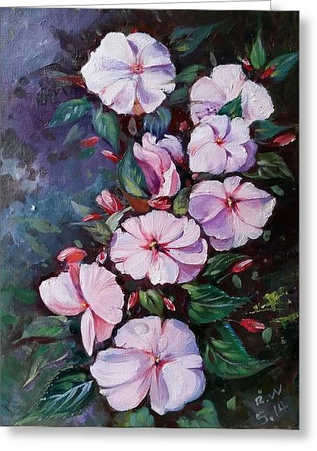 Sunpatiens Flowers Greeting Card