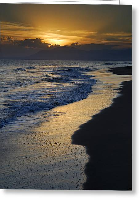 Sunrays Over The Sea Greeting Card