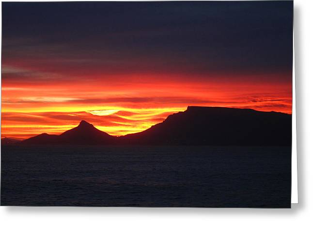 Sunrise Over Table Mountain Greeting Card