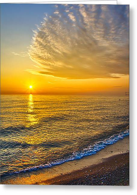 Sunrise 10-30-13 Greeting Card by Michael  Bennett
