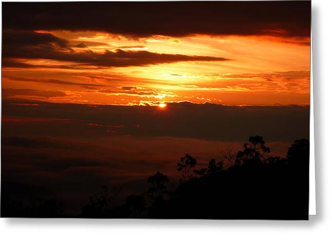 Sunrise Above The Clouds Greeting Card by Evan Hendrickson