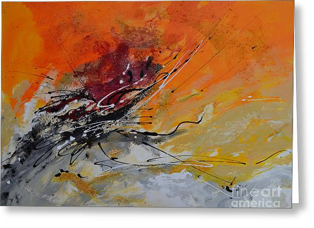 Sunrise - Abstract 1 Greeting Card by Ismeta Gruenwald