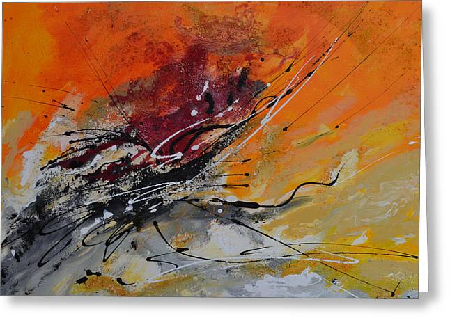 Sunrise - Abstract Greeting Card by Ismeta Gruenwald
