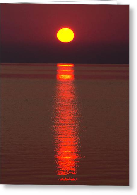 Sunrise And Reflection Greeting Card