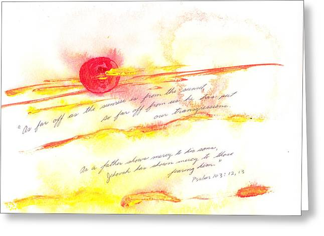 Sunrise And Sunset Greeting Card by B L Qualls