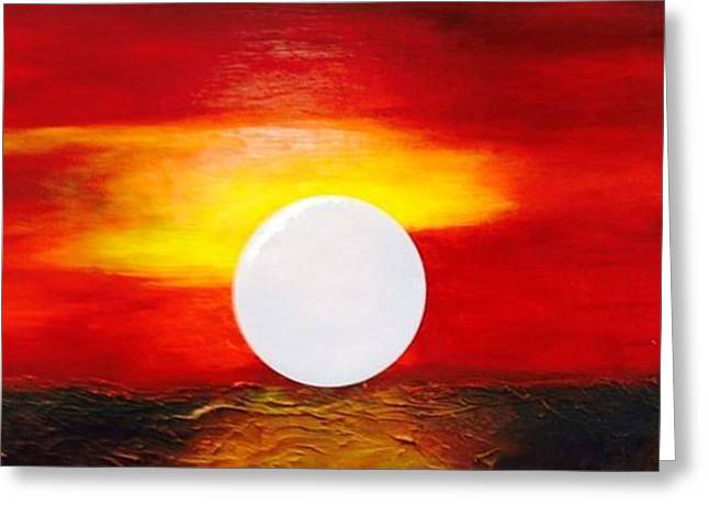 Sunrise Greeting Card by Andrea Friedell