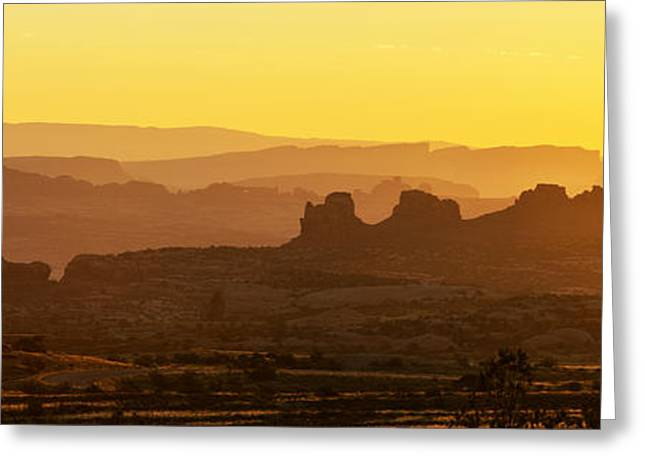 Sunrise At Arches  Greeting Card by Dustin  LeFevre