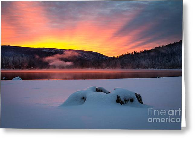 Sunrise At Bass Lake Greeting Card