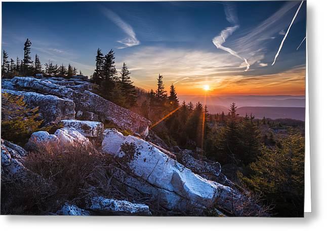 Sunrise At Bear Rocks Greeting Card by Eduard Moldoveanu