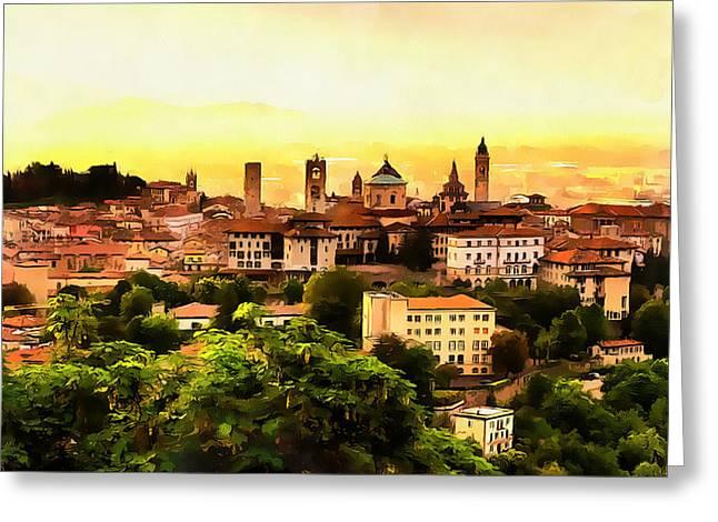Sunrise At Bergamo Greeting Card