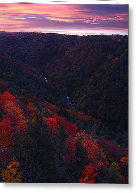 Sunrise At Blackwater Falls State Park Greeting Card by Jetson Nguyen